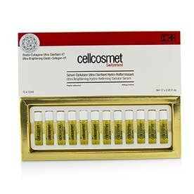 美容液 12x1.5ml セルコスメット ウルトラ ブライトニング エラスト-コラーゲン-XT (ウルトラ ブライトニング ハイドラ-リファーミング セルラー セラム)
