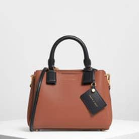 【再入荷】トップハンドルストラクチャーバッグ / Top Handle Structured Bag (Cognac)