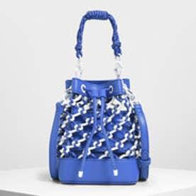 ネットドローストリング バケツバッグ / Netted Drawstring Bucket Bag (Blue)