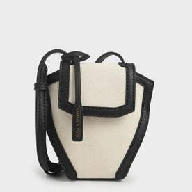 【再入荷】ジオメトリック クロスボディバッグ / Geometric Crossbody Bag (Black Textured)