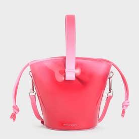 シースルーエフェクト バケツバッグ / See-Through Effect Bucket Bag (Red)