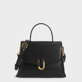 【再入荷】ストーンエンベリッシュド ハンドルバッグ / Stone-Embellished Handbag (Black)