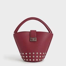 スタッズド バケツバッグ / Studded Bucket Bag (Berry)