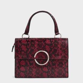 デニムリングディティール トップハンドルバッグ / Denim Ring Detail Top Handle Bag (Berry)