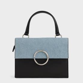 デニムリングディティール トップハンドルバッグ / Denim Ring Detail Top Handle Bag (Denim Blue)