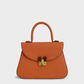 【再入荷】ストーンエンベリッシュド スカルプチャーバッグ / Stone-Embellished Sculptural Bag (Orange)