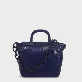 シースルー トートバッグ / See-Through Tote Bag (Dark Blue)