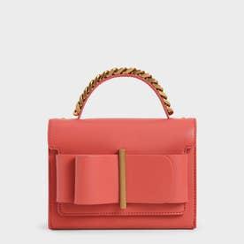 【再入荷】ボウトップ ハンドルバッグ / Bow Top Handle Bag (Coral)