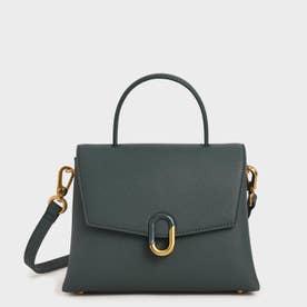 ストーンエンベリッシュド フロントフラップバッグ / Stone-Embellished Front Flap Bag (Teal)