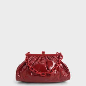 【2021 SPRING】パテント チェーンハンドルクラッチ / Patent Chain Handle Clutch (Red)