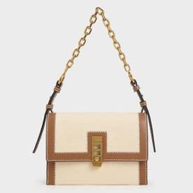 【再入荷】【2021 SPRING】キャンバス ターンロックチェーンハンドルバッグ / Canvas Turn-Lock Chain Handle Bag (Ivory)