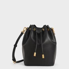 【再入荷】キャンバス ドロウストリングバケツバッグ / Canvas Drawstring Bucket Bag (Black)