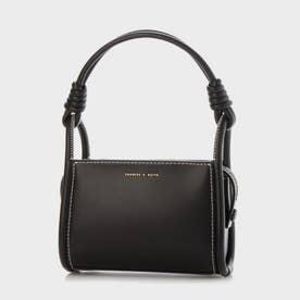 【2021 SUMMER 新作】ノッティドハンドル ボクシーバッグ / Knotted Handle Boxy Bag (Black)