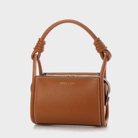 【2021 SUMMER 新作】ノッティドハンドル ボクシーバッグ / Knotted Handle Boxy Bag (Cognac)
