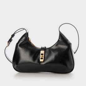 【2021 SUMMER 新作】メタリックアクセント ホーボーバッグ / Metallic Accent Hobo Bag (Black)