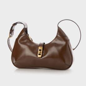 【2021 SUMMER 新作】メタリックアクセント ホーボーバッグ / Metallic Accent Hobo Bag (Cognac)