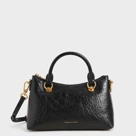 【2021 SUMMER 新作】ダブルハンドル ショルダーバッグ / Double Handle Shoulder Bag (Black)