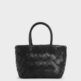 【2021 SUMMER 新作】ウーブントートバッグ / Woven Tote Bag (Black)