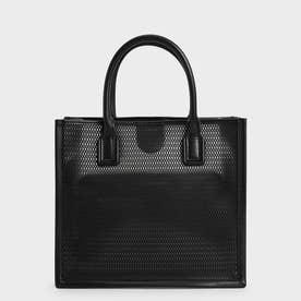 【2021 SUMMER 新作】メッシュダブルハンドル トートバッグ / Mesh Double Handle Tote Bag (Black)