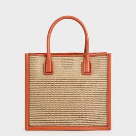 【2021 SUMMER 新作】メッシュダブルハンドル トートバッグ / Mesh Double Handle Tote Bag (Orange)