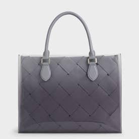 ウーブンダブル トップハンドルバッグ / Woven Double Top Handle Bag (Lilac)