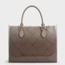 ウーブンダブル トップハンドルバッグ / Woven Double Top Handle Bag (Taupe)