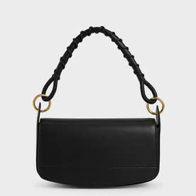 【2021 SUMMER 新作】コイルド トップハンドルショルダーバッグ / Coiled Top Handle Shoulder Bag (Black)