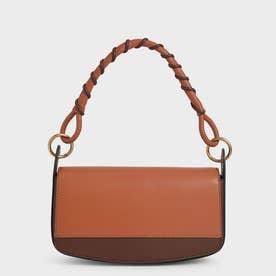【2021 SUMMER 新作】コイルド トップハンドルショルダーバッグ / Coiled Top Handle Shoulder Bag (Cognac)