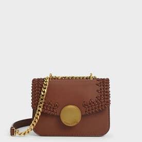 ウーブンダブルチェーン ハンドルバッグ /  Woven Double Chain Handle Bag (Chocolate)