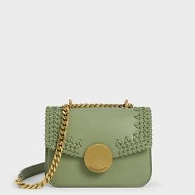 ウーブンダブルチェーン ハンドルバッグ /  Woven Double Chain Handle Bag (SageGreen)