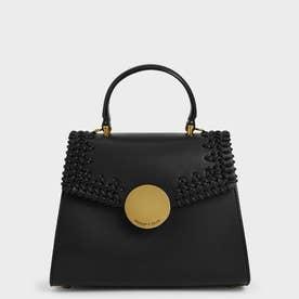 ウーブン トップハンドルバッグ / Woven Top Handle Bag (Black)