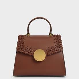 ウーブン トップハンドルバッグ / Woven Top Handle Bag (Chocolate)