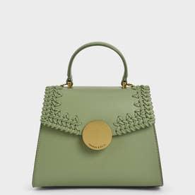 ウーブン トップハンドルバッグ / Woven Top Handle Bag (SageGreen)