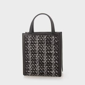 【2021 SUMMER 新作】ウーブンツイード トートバッグ / Woven Tweed Tote Bag (Black)