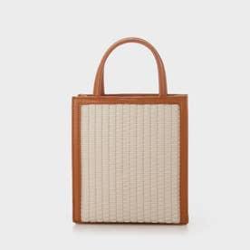 【2021 SUMMER 新作】ウーブンツイード トートバッグ / Woven Tweed Tote Bag (Cognac)
