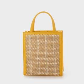【2021 SUMMER 新作】ウーブンツイード トートバッグ / Woven Tweed Tote Bag (Yellow)