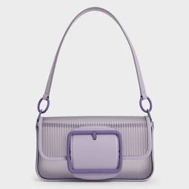 【2021 SUMMER 新作】アクリルチェーンハンドル ショルダーバッグ / Acrylic Chain Handle Shoulder Bag (Lilac)
