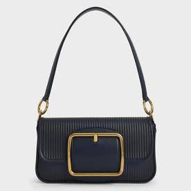【2021 SUMMER 新作】アクリルチェーンハンドル ショルダーバッグ / Acrylic Chain Handle Shoulder Bag (Navy)