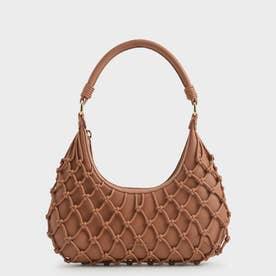 ネテッド レザーショルダーバッグ / Netted Leather Shoulder Bag (Tan)