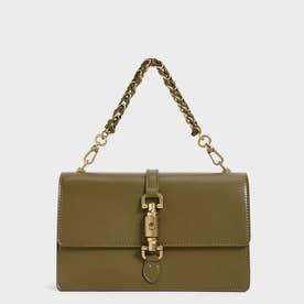 【2021 FALL 新作】シングルチェーンハンドル ショルダーバッグ / Single Chain Handle Shoulder Bag (Olive)