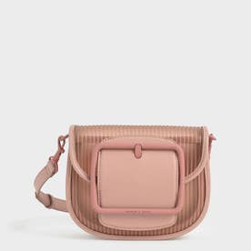 【2021 SUMMER】アクリルチェーンハンドル クロスボディバッグ / Chain Handle Crossbody Bag (Blush)