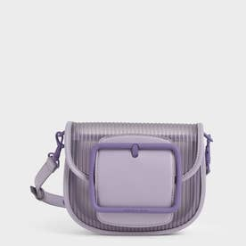 【2021 SUMMER】アクリルチェーンハンドル クロスボディバッグ / Chain Handle Crossbody Bag (Lilac)