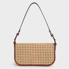 ウーブンフラップ ショルダーバッグ / Woven Flap Shoulder Bag (Brown)