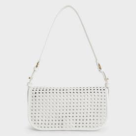 ウーブンフラップ ショルダーバッグ / Woven Flap Shoulder Bag (White)
