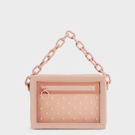 チェーンリンク クロスボディバッグ / Chain Link Crossbody Bag (Blush)
