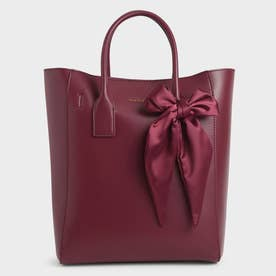 【2021 FALL 新作】ボウトートバッグ / Bow Tote Bag (Burgundy)