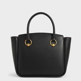 【2021 FALL 新作】リングディティール ホーボーバッグ / Ring Detail Large Hobo Bag (Black)