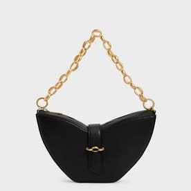 【2021 FALL 新作】チェーンハンドル スカルプチャーバッグ / Chain Handle Sculptural Bag (Black)