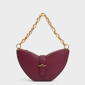 【2021 FALL 新作】チェーンハンドル スカルプチャーバッグ / Chain Handle Sculptural Bag (Burgundy)