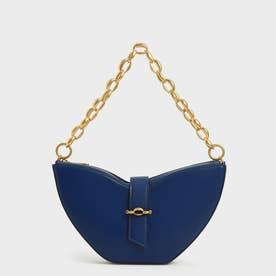 【2021 FALL 新作】チェーンハンドル スカルプチャーバッグ / Chain Handle Sculptural Bag (Navy)